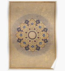 Rosette Bearing the Names and Titles of Shah Jahan, Folio from the Shah Jahan Album Poster