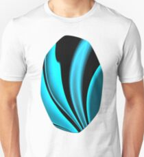Abstract Fractal Colorways 02 Pacific Blue Unisex T-Shirt
