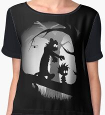 Calvin And Hobbes Adventure Chiffon Top