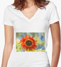 Sunflower 2 Women's Fitted V-Neck T-Shirt