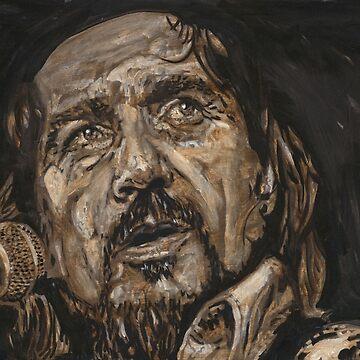 Waylon Jennings by BuddyOwens