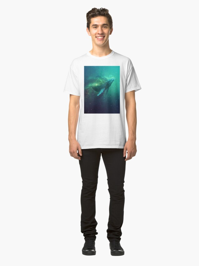 Vista alternativa de Camiseta clásica Ballena cósmica