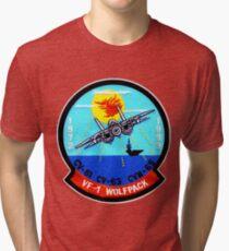 VF- 1 Wolfpack Deactivation Patch Tri-blend T-Shirt