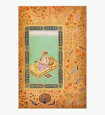 The Emperor Shah Jahan with his Son Dara Shikoh, Folio from the Shah Jahan Photographic Print