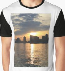 Sunset Over Hudson River Graphic T-Shirt