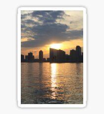 Sunset Over Hudson River Sticker