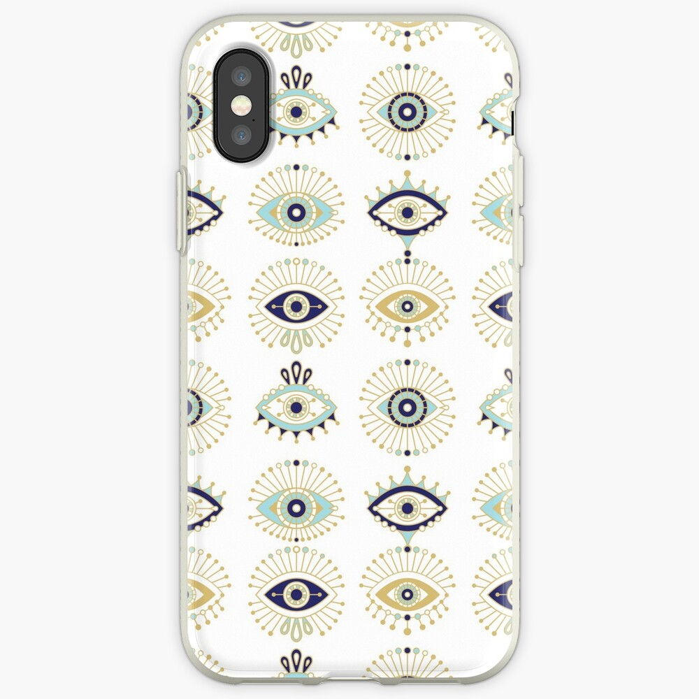 Evil Eye Collection on White iPhone Case & Cover