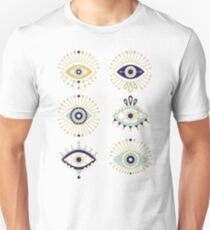 Evil Eye Collection on White Unisex T-Shirt