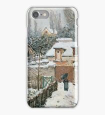 Alfred Sisley - Snow at Louveciennes French Impressionism Landscape iPhone Case/Skin