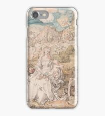 Albrecht Durer  - Mary among a Multitude of Animals,  1503 Woman Portrait Fashion iPhone Case/Skin