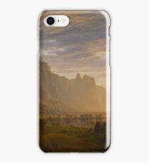 Albert Bierstadt - Looking Down Yosemite Valley, California American Landscape iPhone Case/Skin
