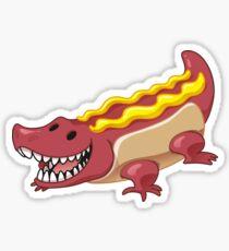 Hot Dog Alligator Crocodile Sticker