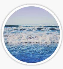 Indigo Waves Sticker