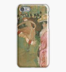 Henri de Toulouse-Lautrec  - At the Moulin Rouge The Dance (1890)Woman Portrait Fashion iPhone Case/Skin