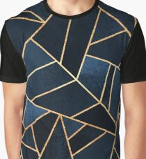 Navy Stone Graphic T-Shirt