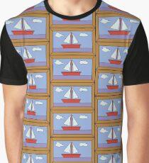 Sail Boat Artwork Graphic T-Shirt