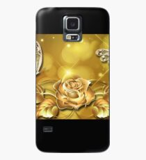 Gorgeous Gold Rose Merchandise Case/Skin for Samsung Galaxy