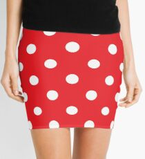 Polka dot fabric. Retro vector background Mini Skirt
