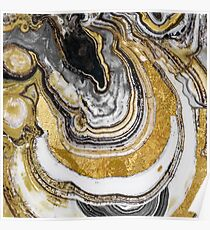 Stone Prose Gold Geode Poster