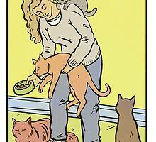 Modern Tarot - The Cat Lady by Alice Carroll