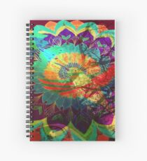 I'd rather be a hummingbird caged in your psychedelic heart Spiral Notebook