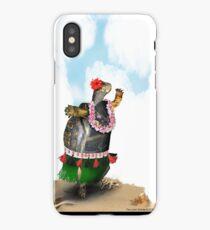 Turtle Hula Dancing on the Beach iPhone Case