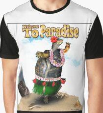 Turtle Dancing the Hula on a Hawaiian Beach Graphic T-Shirt