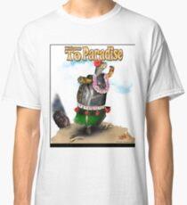 Turtle Dancing the Hula on a Hawaiian Beach Classic T-Shirt
