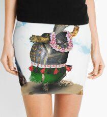 Turtle Dancing the Hula on a Hawaiian Beach Mini Skirt