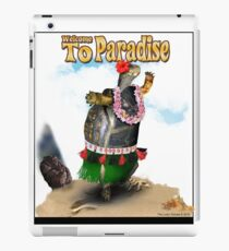 Turtle Dancing the Hula on a Hawaiian Beach iPad Case/Skin