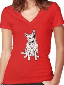 Dawg Women's Fitted V-Neck T-Shirt