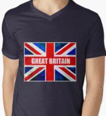 GREAT BRITAIN Men's V-Neck T-Shirt