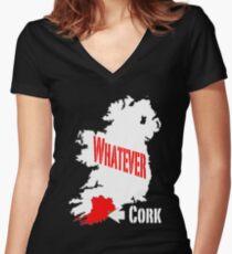 Cork... Whatever... Women's Fitted V-Neck T-Shirt
