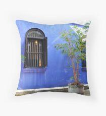 Malaisya ,Penang, Blue Mansion Throw Pillow