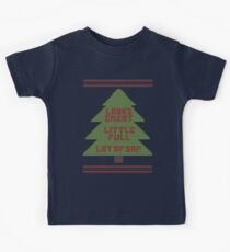 Christmas Vacation Ugly Sweater Kids Tee