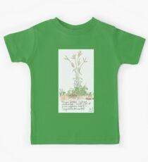 Finger grass - Botanical illustration Kids Tee