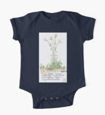 Finger grass - Botanical illustration One Piece - Short Sleeve