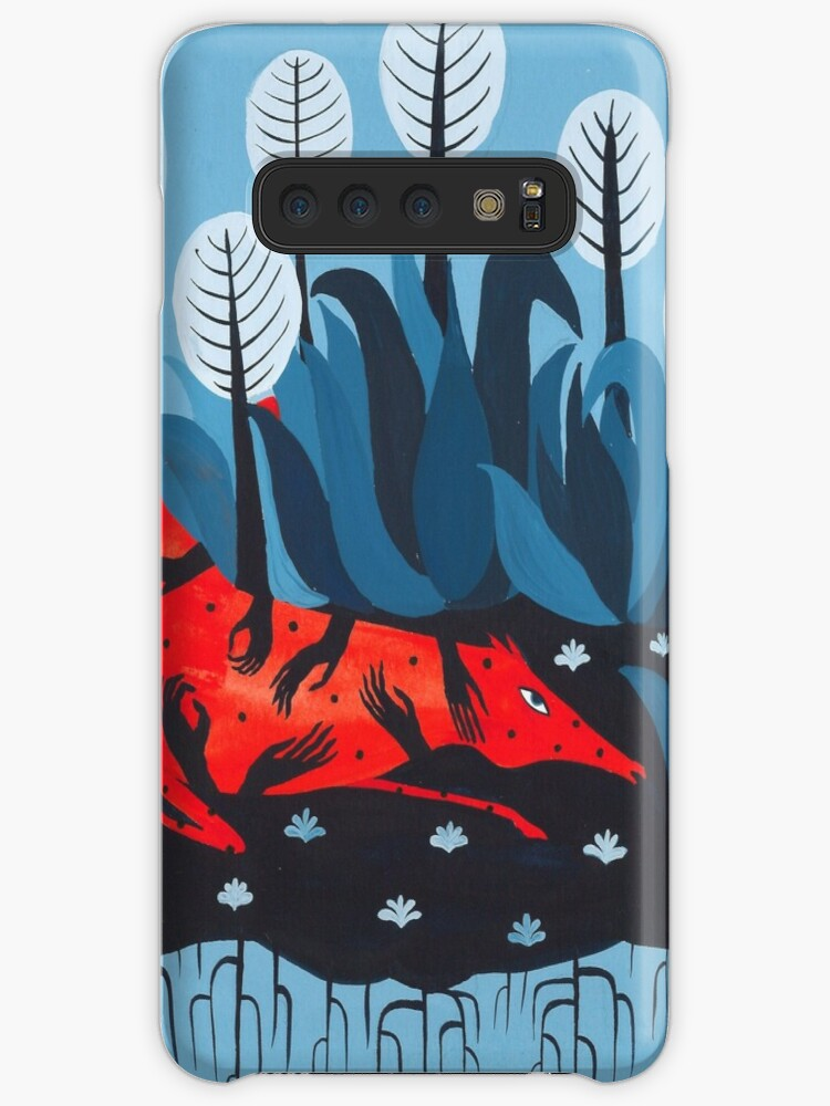 Smug red horse iphone case