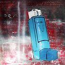 Angel of Breath - Ventolin Stencil Art by Katie Robinson