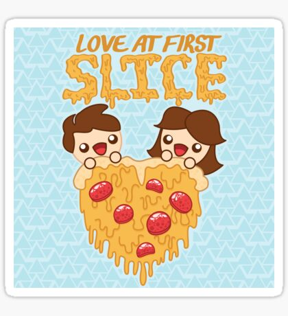 Love At First Slice Sticker