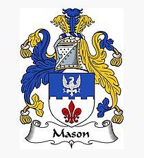 Mason Coat of Arms / Mason Family Crest Photographic Print