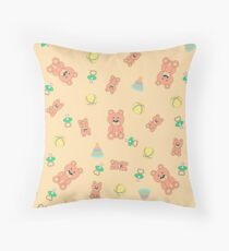 Seamless pattern with toys Throw Pillow