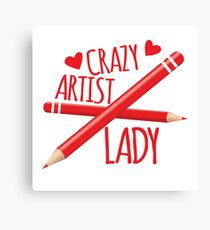 Crazy Artist Lady Canvas Print