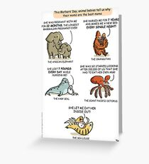 Mothers' Day with Animals Greeting Card