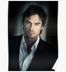 Handsome Damon Salvatore Ian Somerhalder  Poster