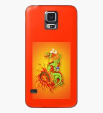 Flaming Dragon Poster Case/Skin for Samsung Galaxy