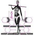 Female cyber samurai lines variation by salimgor
