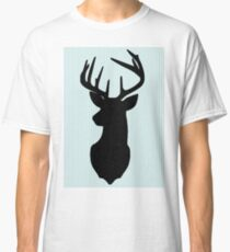 Deer and antler silhouette Classic T-Shirt