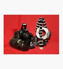 Camera Set-up - Canon EOS 350D Photographic Print