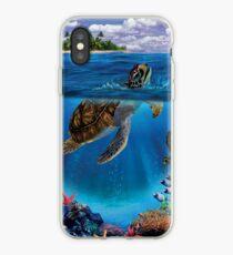 Honu- Hawaiian Green sea turtle iPhone Case